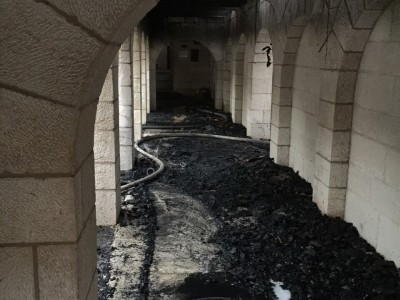 הותר לפרסום: פוענחה הצתת הכנסייה בטבריה