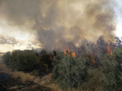 שריפה גדולה בנצרת עלית, כיבוי אש מנסים למנוע התרחבותה