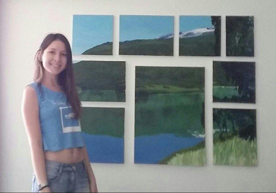 תלמידה מצטיינת במגמת אומנות באורט.אנה וולניחין
