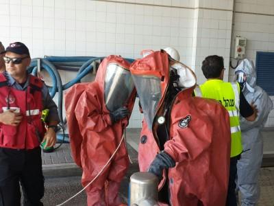 צפו: דליפת חומר מסוכן באלון תבור, עובדי המפעל פונו מהמקום
