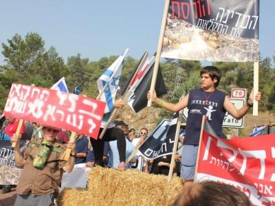 """צפו במחאת החקלאים: """"לא נוציא תוצרת חקלאית לקראת החגים"""""""