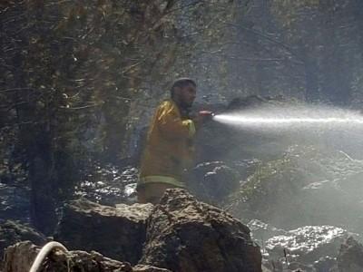 שריפה גדולה בהר הקפיצה בנצרת, לוחמי האש מנסים למנוע התפשטותה