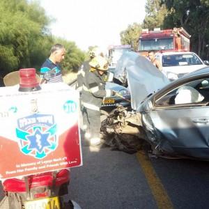 הרס רב באזור התאונה