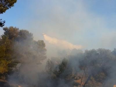 נצרת: שרפה מתחוללת בסמוך  להר הקפיצה