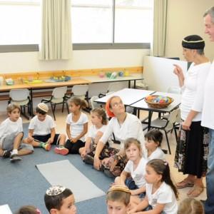 תלמידי בית הספר היסודי בשדה יעקב פוגשים את ראש המועצה שלהם, אייל בצר