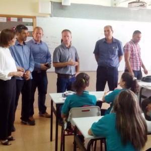 """פתיחת שנת הלימודים בבתי הספר במגזר הערבי במוא""""ז גלבוע. ראש המועצה, עובד נור, וסגנו, הישאם זועבי, הגיעו לברך"""