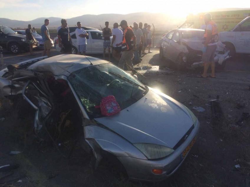 תאונה חזיתית קשה ביציאה מבית שאן לכיוון דרום