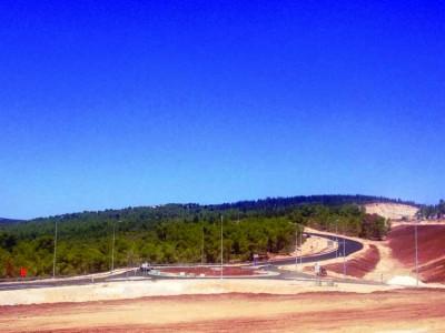 כביש 65: נפתח לתנועה שלב א' במחלף נטופה החדש