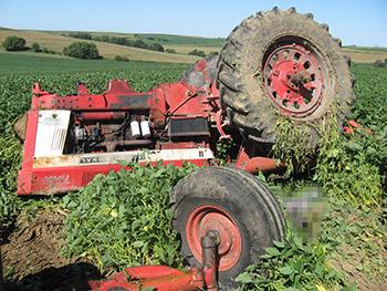 אדם נהרג בתאונה חקלאית ליד עפולה