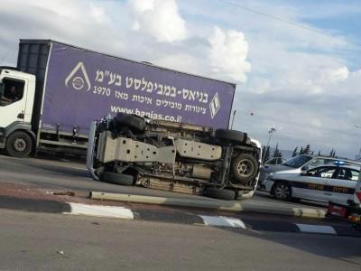 עפולה: תאונה מפחידה בסמוך לקאנטרי
