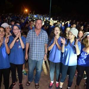 מפגן עוצמה יזרעאלי כ- 2200 בני נוער מעמק יזרעאל פתחו את שנת הפעילות של תנועות הנוער