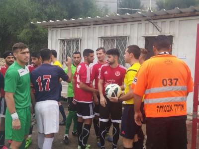 מגדל העמק: אוהד נפצע מאבן במשחק כדורגל
