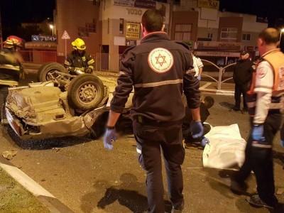 צפו: שני הרוגים בתאונת דרכים קטלנית בנצרת עילית