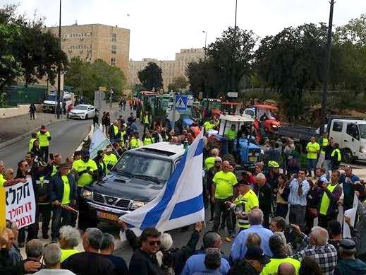 שיירת המפגינים בבירה ירושלים