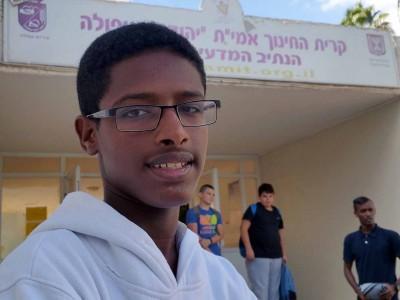 """כבוד: יו""""ר מועצת התלמידים האתיופי הראשון – מעפולה"""
