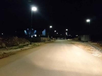 גלבוע: הישוב החדש נורית חובר לתאורת רחוב