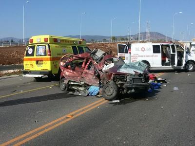 בן 30 נפצע באורח קשה בתאונה בכביש 65