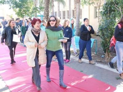 יום המורה בויצו ניר העמק: קבלת פנים הוליוודית למורים