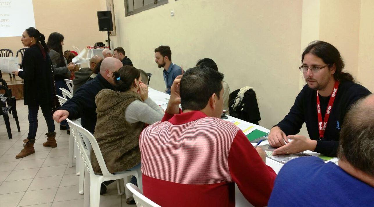 תושבים רבים הביעו התעניינות בפרויקט בכנס קודם. צילום - שביט רייכנטל