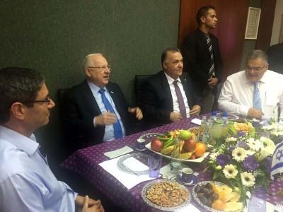 נשיא המדינה ביקר בנצרת, ונפגש עם תעשיינים וראשי רשויות