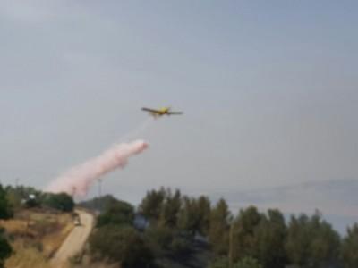 קיבוץ יזרעאל: שני מטוסי כיבוי הוזנקו לסייע בכיבוי שריפה