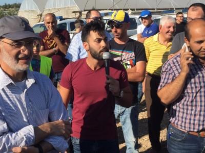 גלבוע: עימות סוער בהפגנה על כביש 60