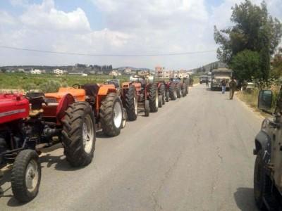 דרומית לג'נין: 11 טרקטורים גנובים התגלו במתחם נסתר