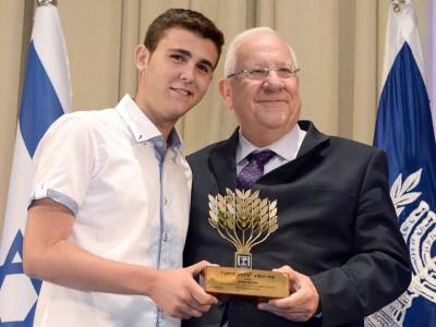 גאוות עפולה: אליאב בטיטו קיבל את אות הנשיא מרובי ריבלין