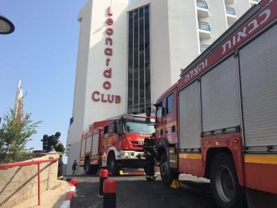 טבריה: צ'יפסר שהתלקח גרם לשריפה במלון נהר הירדן