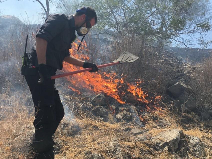 טבריה: שלושה תושבי העיר נעצרו בגין הצתת יער שוויץ