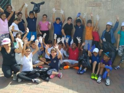 יום הניקיון הבינלאומי: ילדי מגדל העמק במבצע עירוני
