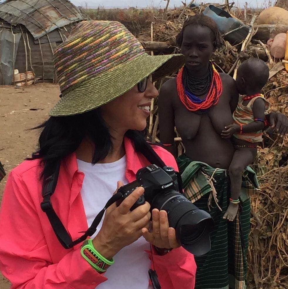 מרלן נוי ממרחביה. צילמה ותיעדה את המסע האנתרופולוגי לאתיופיה עם בעלה