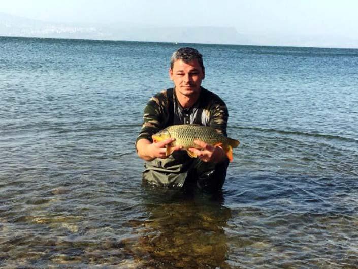קרפיון ״קטנטן״ במשקל 7 קילו: תחרות 'דייג ספורטיבי' בינלאומית בכינרת