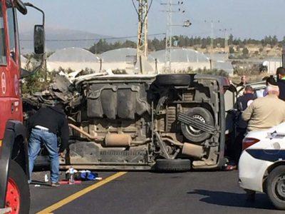 כביש 60 תאונת חזיתית בסמוך למגן שאול