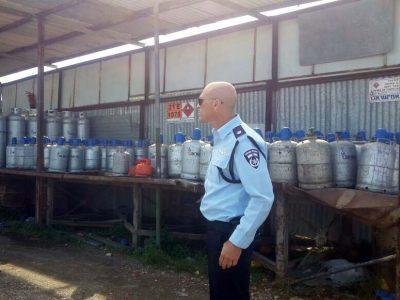 399 בלוני גז פיראטים הוחרמו ע״י המשטרה