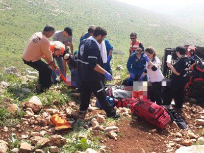 עמק המעיינות: מסוק צבאי הוזנק לחלץ בן 13 שנפגע בהתהפכות טרקטורון
