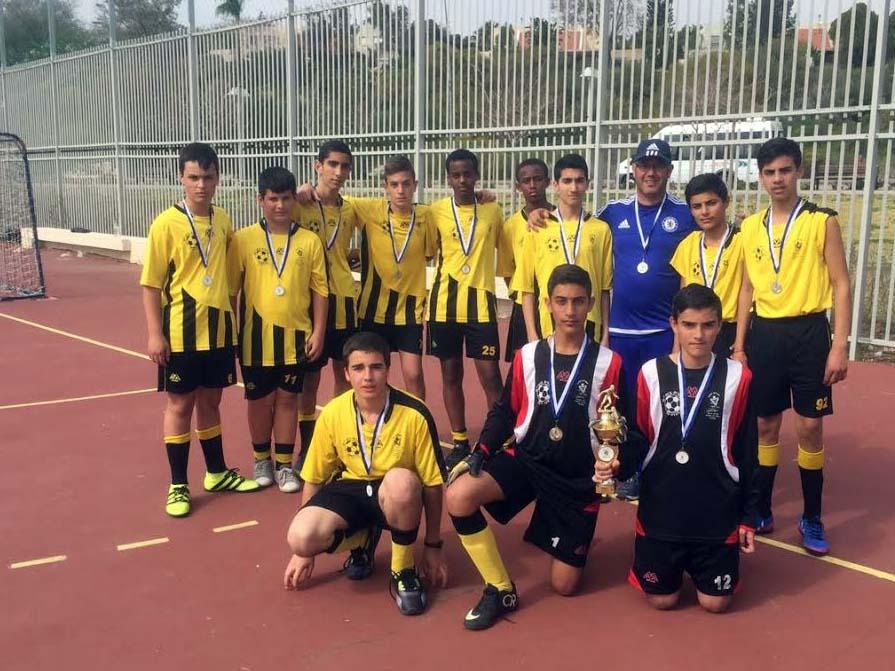 """כבוד לכדורגלנים הצעירים נבחרת חטיבת הביניים של אמי""""ת יהודה בעפולה. סיימו במקום השני בטורניר הארצי"""