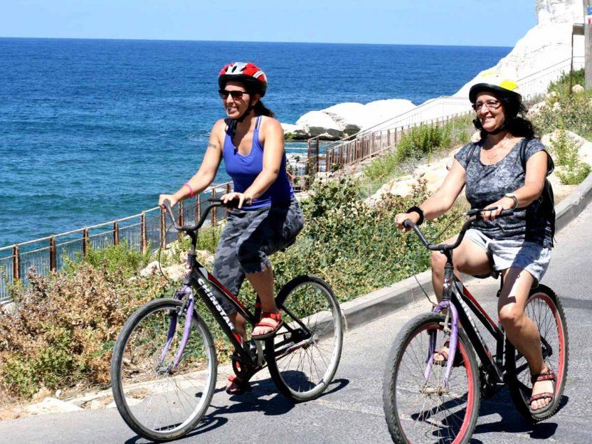 טיול אופניים משבי ציון לראש הנקרה צילום ראש הנקרה