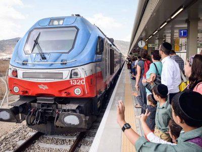 בשל הגשמים העזים באזור חיפה: הופסקה תנועת הרכבת בקו רכבת העמק