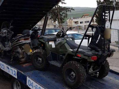 מסוכן: בן 11 נתפס רוכב על טרקטורון