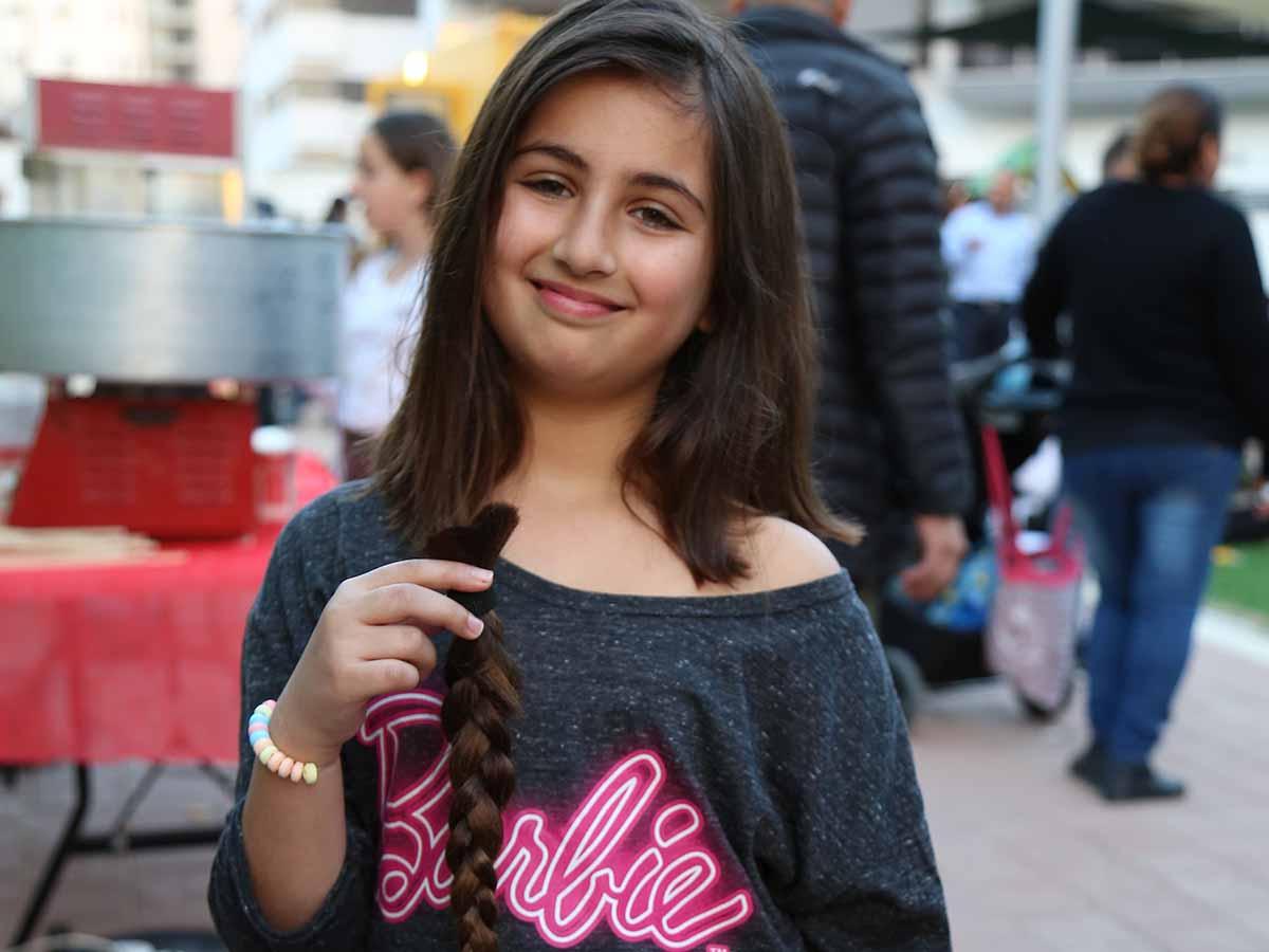עומר קינן, ילדה מקסימה עם הצמה שתרמה צילום: עדי דינר