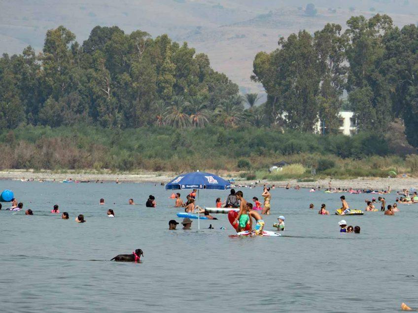 כינרת: למרות הפתיחה המאוחרת מעל 2.1 מיליון נופשים בילו הקיץ בחופים