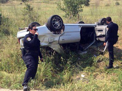 נהג רכב כבן 25 התהפך בסמוך לציפורי ונפצע באורח בינוני