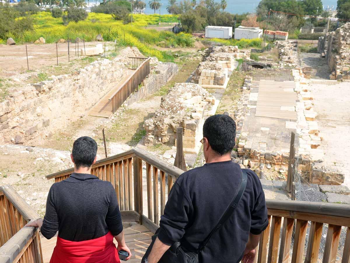 התיאטרון בטבריה-חלק מהמסלול.צילום-רשות 13.
