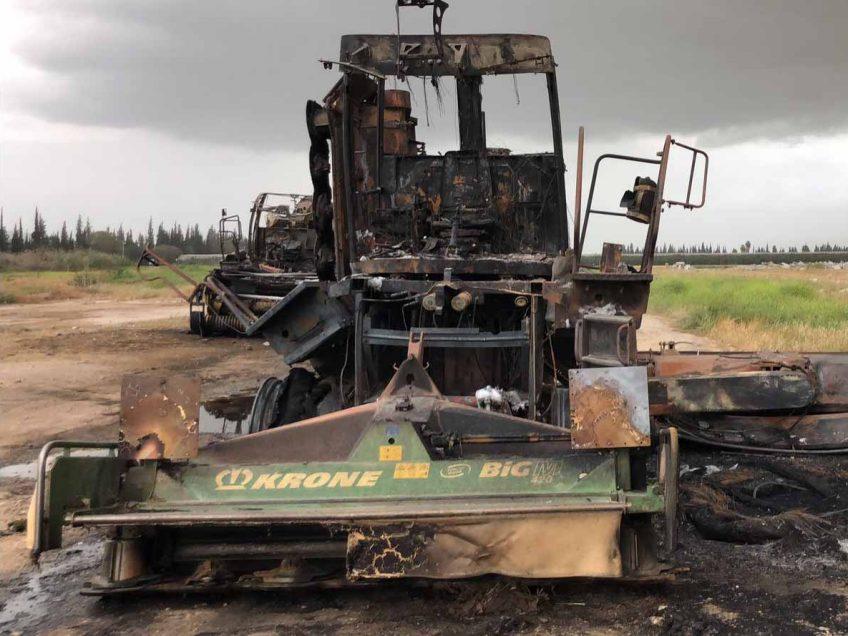 הגדול טרור חקלאי במזרע: 36 גלגלי מתכת המשמשים להשקייה הוצתו | עמקניוז WY-31