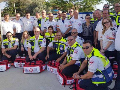 גן נר: אירוע לציון הכשרתם של 17 חובשי חירום ונהגי אמבולנס