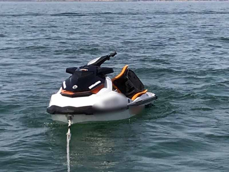 אופנוע הים עליו רכב ההרוג בתאונה הימית