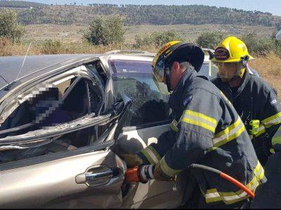 כביש 65: תאונת דרכים בין שני כלי רכב סמוך לכפר נין