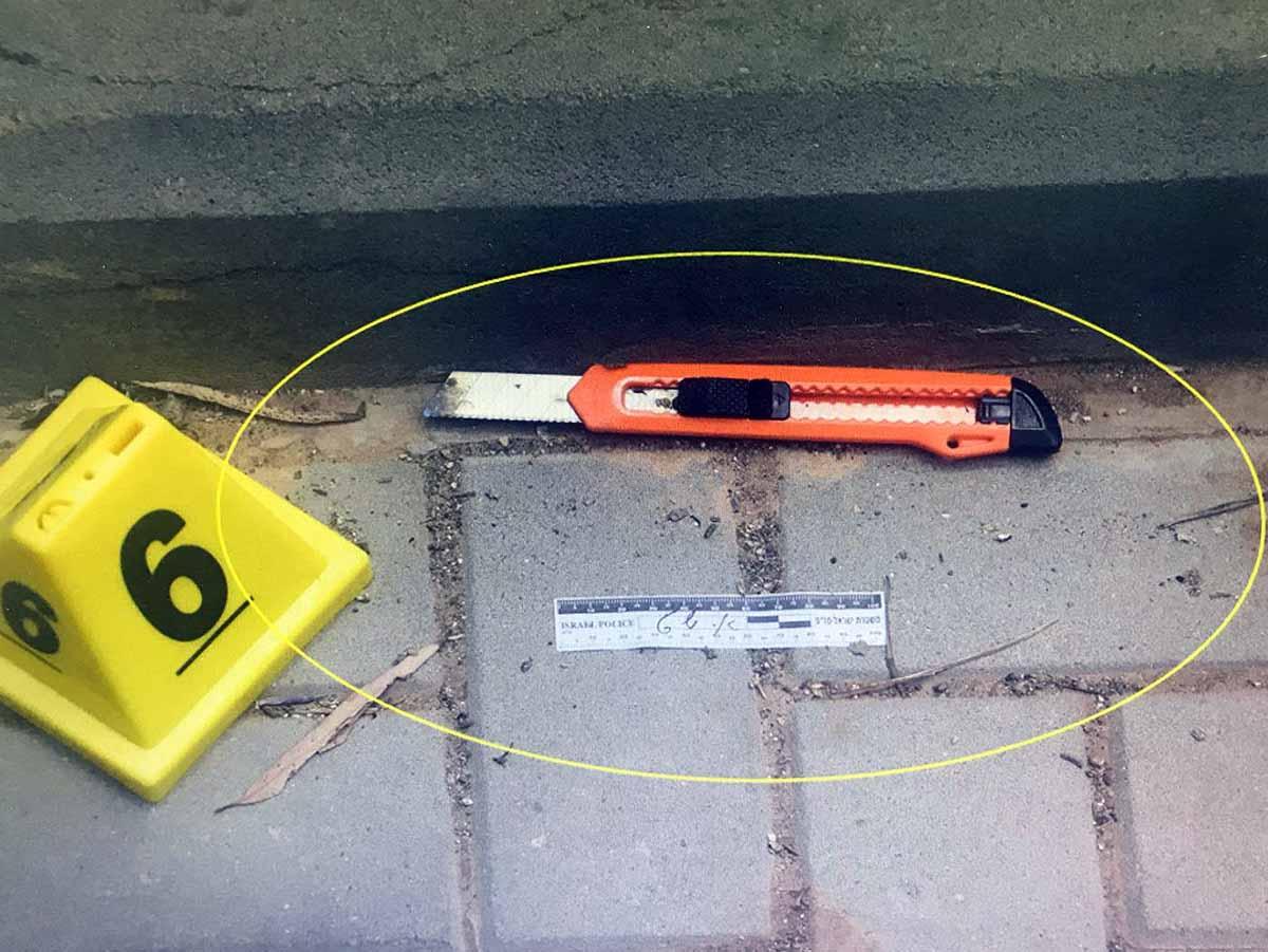 סכין הטפטים עמה תכנן לתקוף ולרצוח שוטר