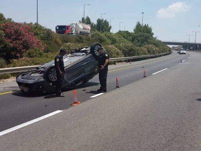 כביש 70: נהג נפצע באורח אנוש בתאונת דרכים